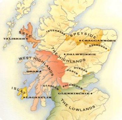 whisky origen mapa