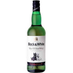 Botella de Whisky Black & White - edición de 0.75 lts.