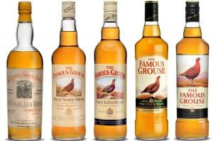 La evolución de la presentación del whisky Famous Grouse