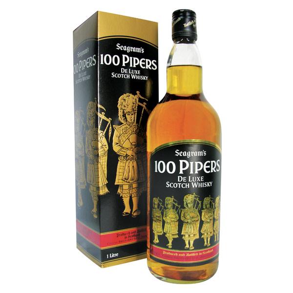 Whisky 100 Pipers, edición estándar de 1Lt.