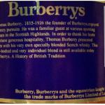 Etiqueta del whisky Burberrys