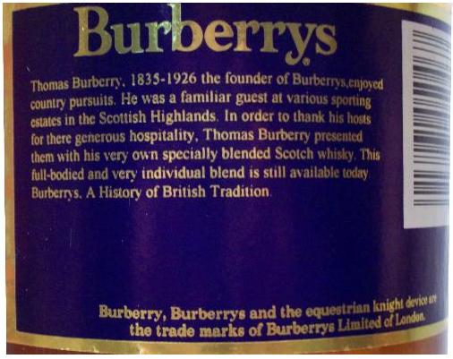 Whisky Etiquetas Colores Etiqueta Del Whisky Burberrys